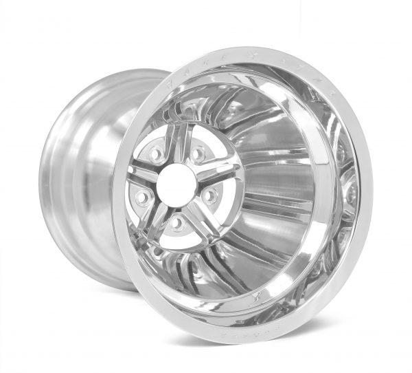"Outlaw Street Car Association - Race Star Wheels - 63 Pro Forged 15x15 NBL Sportsman Polished 5x4.75 BC 6.00"" BS"