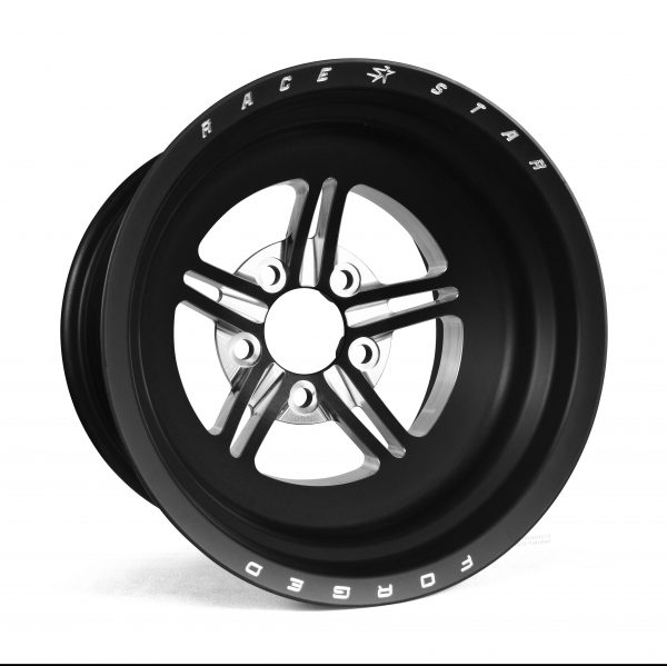 Outlaw Street Car Association - Race Star Wheels - 63 Pro Forged 15x15 NBL Sportsman Black Anodized/Machined 5x4.75 BC 6.00BS