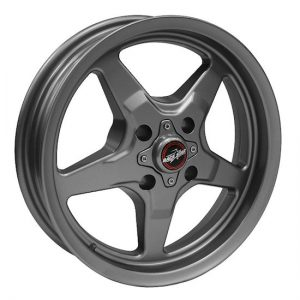 Outlaw Street Car Association - Race Star Wheels - 15x8  91 Drag Star Four Lug  Ford  Metallic Gray  91-580030G