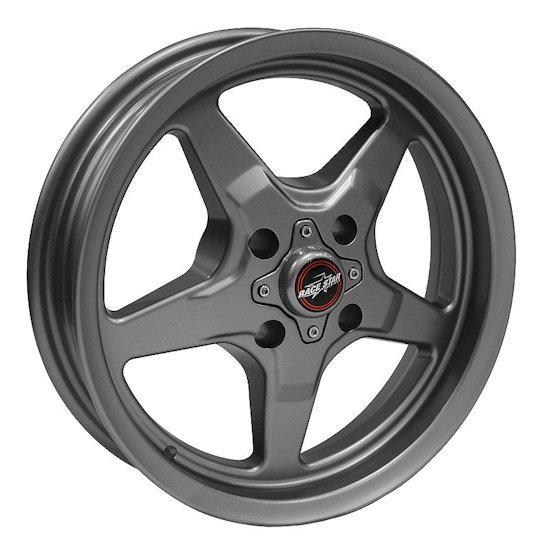 Outlaw Street Car Association - Race Star Wheels - 15x8  91 Drag Star Four Lug  Ford  Metallic Gray  91-580030G