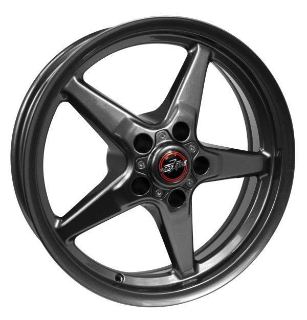 Outlaw Street Car Association - Race Star Wheels - 18x5  92 Drag Star Bracket Racer  Dodge  Metallic Gray  92-850445G