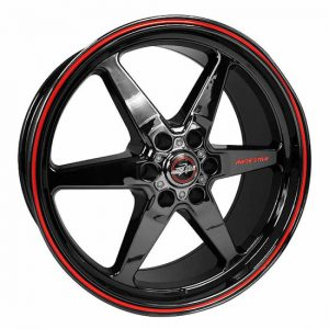 Outlaw Street Car Association - Race Star Wheels - 17x9.5  93 Truck Star  GM  Black Chrome  93-795852BC
