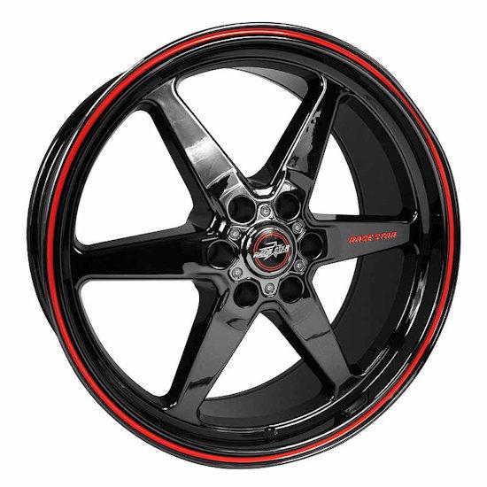 Outlaw Street Car Association - Race Star Wheels - 17x9.5  93 Truck Star  GM  Black Chrome  93-795852BC