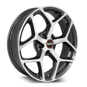 Outlaw Street Car Association - Race Star Wheels - 18x8.5  95 Recluse  GM  Metallic Gray  95-885250GP