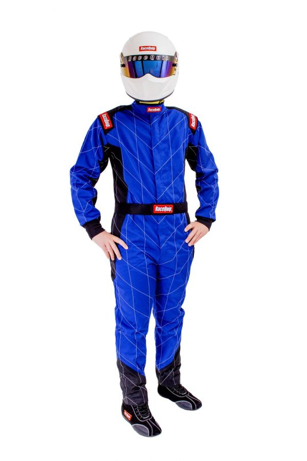 Outlaw Street Car Association - RaceQuip - CHEVRON-1 SUIT SFI-1 BLUE - 130922A