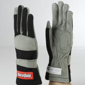 Outlaw Street Car Association - RaceQuip - 1-LYR SFI-1 GLOVE BLACK - 351002A