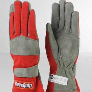Outlaw Street Car Association - RaceQuip - 1-LYR SFI-1 GLOVE RED - 351012A