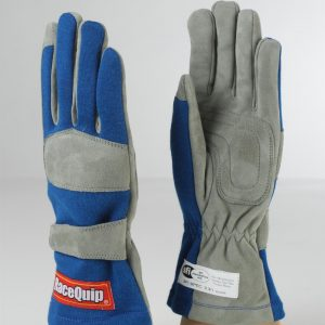 Outlaw Street Car Association - RaceQuip - 1-LYR SFI-1 GLOVE BLUE - 351022A