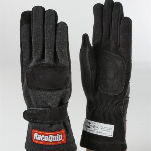 Outlaw Street Car Association - RaceQuip - 2-LYR SFI-5 GLOVE BLACK - 355001A