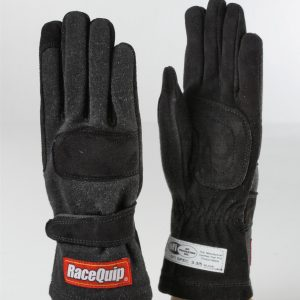 Outlaw Street Car Association - RaceQuip - 2-LYR SFI-5 GLOVE KID BLACK - 3550089A