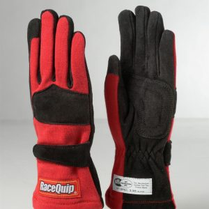Outlaw Street Car Association - RaceQuip - 2-LYR SFI-5 GLOVE RED - 355012A