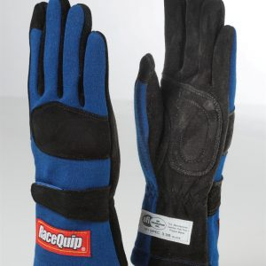 Outlaw Street Car Association - RaceQuip - 2-LYR SFI-5 GLOVE BLUE - 355022A