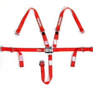 Outlaw Street Car Association - RaceQuip - JR L & L 5PT HARNESS RED - 709019