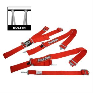 Outlaw Street Car Association - RaceQuip - L & L 5PT SEAT BELT RED - 711011