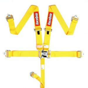 Outlaw Street Car Association - RaceQuip - L & L 5PT SEAT BELT YELLOW - 711031