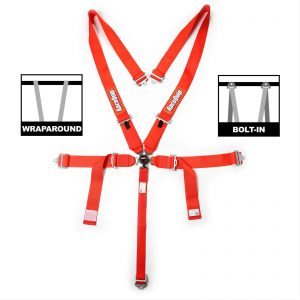 Outlaw Street Car Association - RaceQuip - SFI CAMLOCK 5PT PD LAP SEAT BELTS RED - 741011