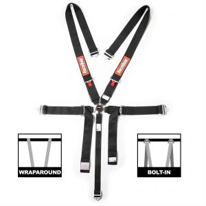 Outlaw Street Car Association - RaceQuip - SFI CAMLOCK 5PT PU LAP SEAT BELTS BLK - 742002
