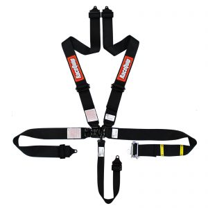 Outlaw Street Car Association - RaceQuip - L & L 5PT RATCHET HARNESS BLACK - 813003