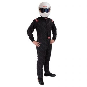 Outlaw Street Car Association - RaceQuip - CHEVRON-5 SUIT SFI-5 BLACK