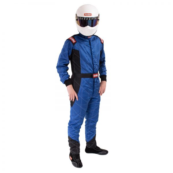 Outlaw Street Car Association - RaceQuip - CHEVRON-5 SUIT SFI-5 BLUE