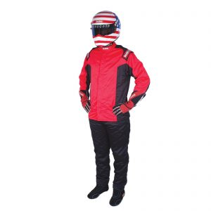 Outlaw Street Car Association - RaceQuip - CHEVRON-5 JACKET SFI-5 RED
